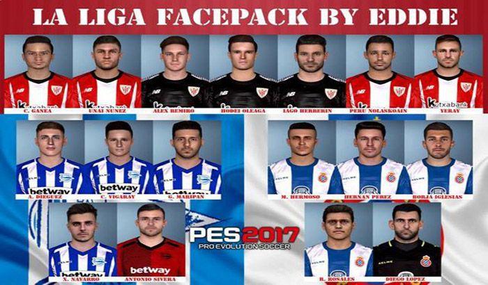 دانلود فیس پک 2018/19 لالیگا برای PES 2017 توسط Eddie Facemaker