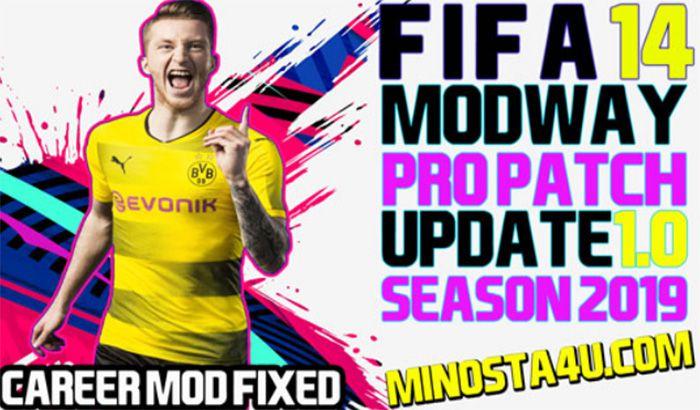 دانلود پچ ModWay Pro Patch 2019 برای FIFA 14 (پچ فصل 2019 فیفا 14)