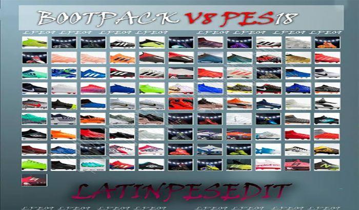 دانلود پک کفش BootPack V8 برای PES 2018 فصل 18/19