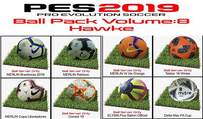 دانلود پک توپ Vol. 8 توسط Hawke برای PES 2019 (+ توپ لیگ قهرمانان آسیا 2019 )
