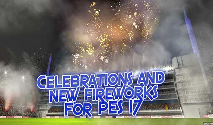 دانلود مود آتش بازی و بمب دود برای PES 2017 ( ورژن 2 )