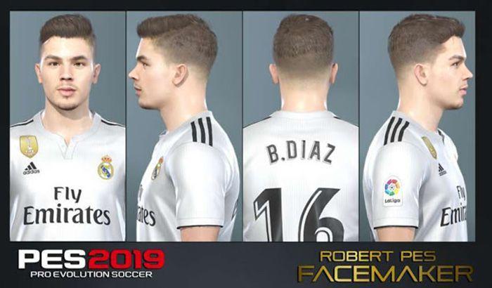 دانلود فیس Brahim Diaz برای PES 2019 (بازیکن رئال مادرید)