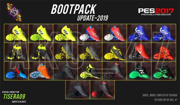 دانلود ریپک کفش های فصل 2018/2019 برای PES 2017 نسخه 2
