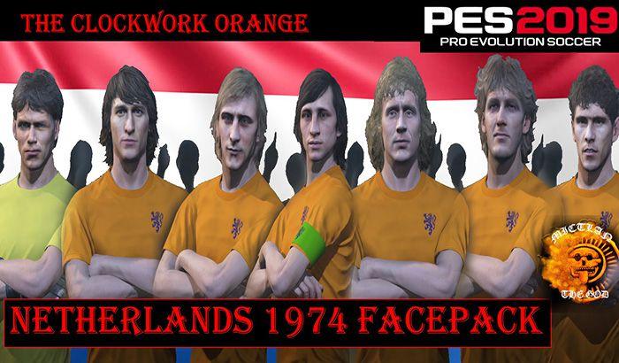 دانلود فیس پک کلاسیک هلند 1974 برای PES 2019