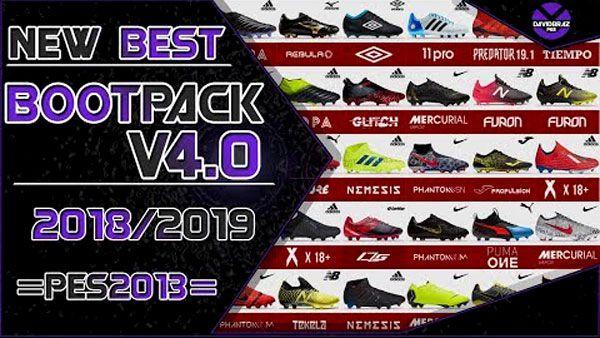 دانلود پک کفش V4.0 برای PES 2013 فصل 2018-2019