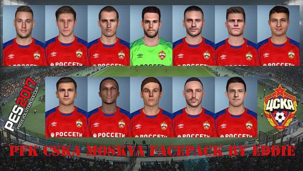 دانلود فیس پک زسکا موسکو CSKA Moscow برای PES 2017