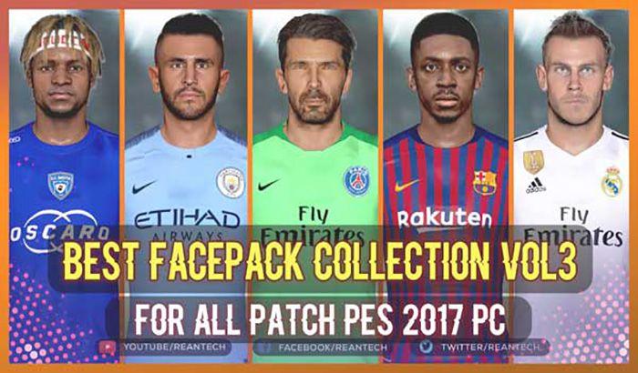 دانلود کالکشن فیس Collection Vol3 برای PES 2017 توسط Rean Tech
