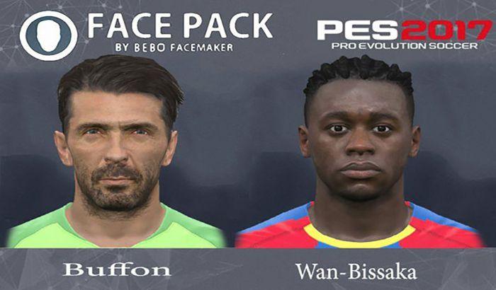 فیس Buffon و Wan-Bissaka برای PES 2017 ( تبدیل شده از PES 2019 )