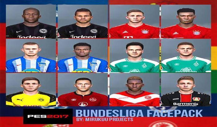 دانلود فیس پک Bundesliga 12-02-2019 برای PES 2017