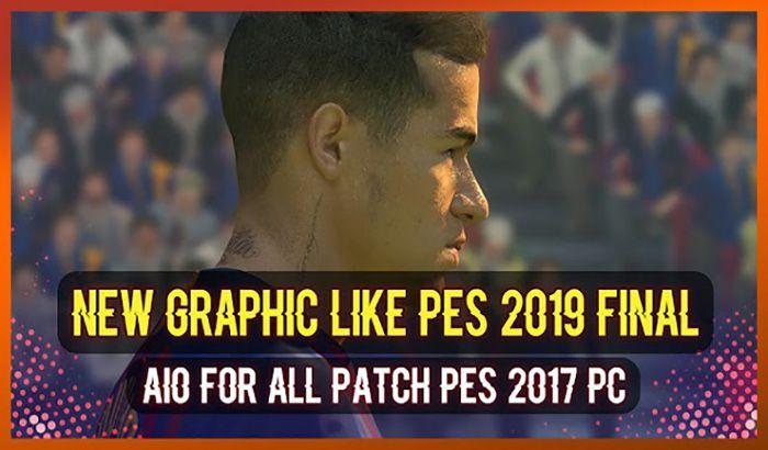 دانلود پچ گرافیکی شبیه PES 2019 برای PES 2017 (نسخه نهایی اضافه شد)