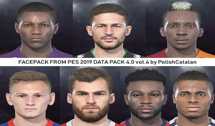 فیس پک تبدیلی از PES 2019 DLC 4 برای PES 2018 ( ورژن 4 اضافه شد )