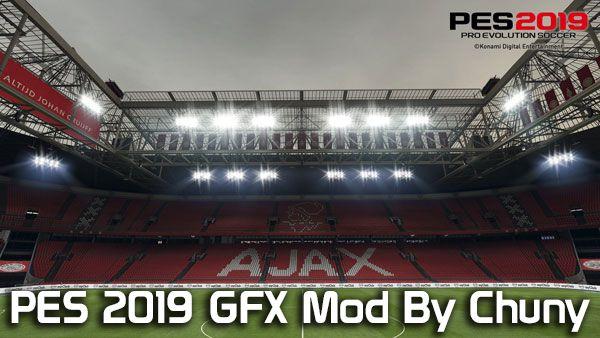 دانلود مود گرافیکی GFX 4.3 برای PES 2019 توسط Chuny