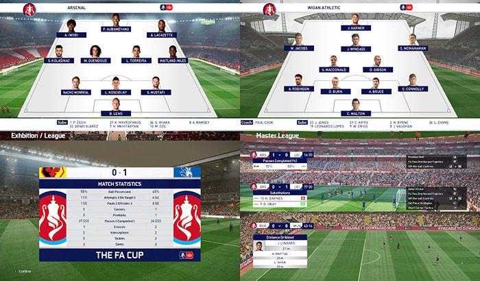 اسکوربورد FA Cup برای PES 2019 توسط Spursfan18