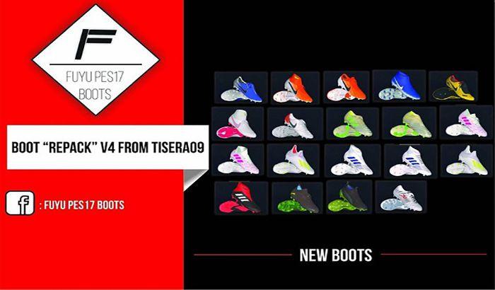 دانلود ریپک کفش V4 برای PES 2017 فصل 2019 توسط FuyuPES17 Boots