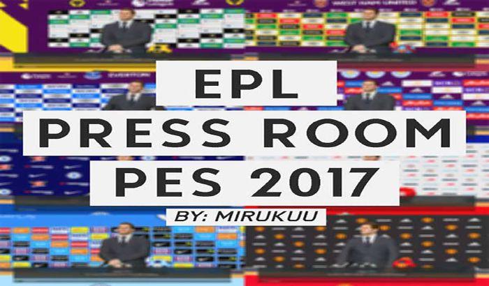 پک اتاق کنفرانس لیگ انگلیس برای PES 2017 توسط MiruKuu