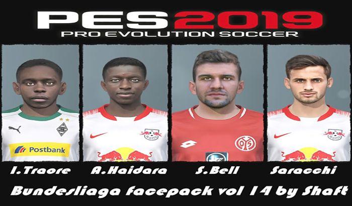 دانلود فیس پک Bundesliga Vol 14 برای PES 2019