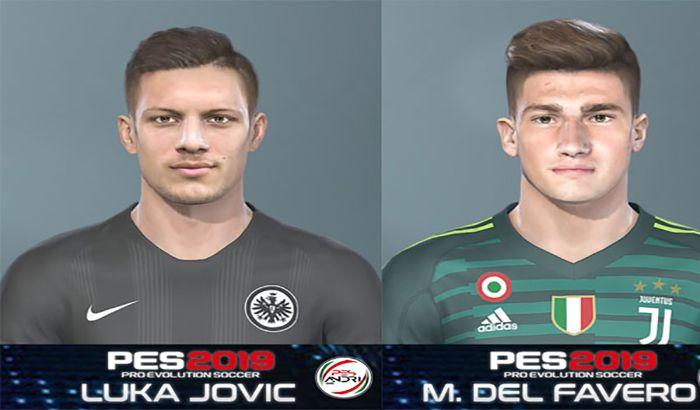 فیس Luka Jovic و Del Favero برای PES 2019 توسط Sofyan Andri