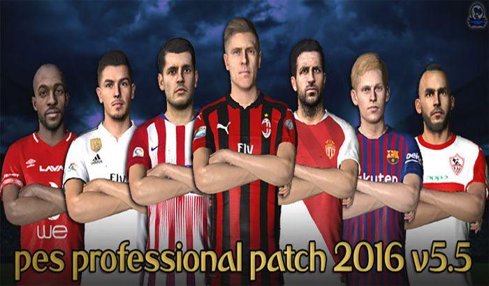 دانلود پچ Professional 5.5 برای PES 2016 ( آپدیت 25 فروردین 98 )