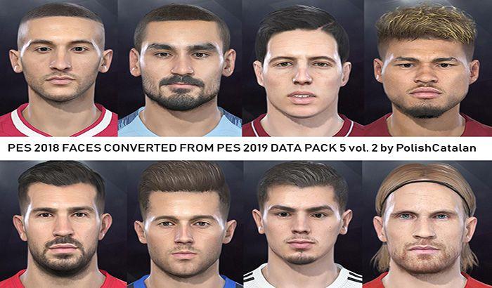 فیس پک تبدیلی از Data Pack 5 PES 2019 برای PES 2018 ( ورژن 2 )