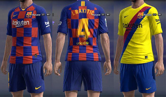 دانلود کیت پک بارسلونا 2019/2020 برای PES 2013