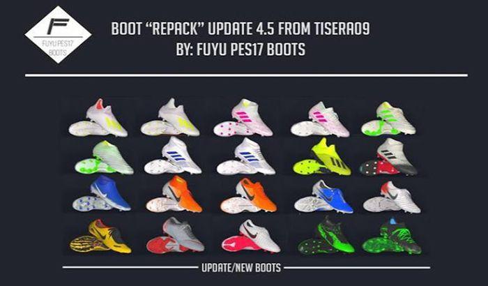 دانلود ریپک کفش V5 برای PES 2017 توسط Tisera09 ( نیم فصل دوم 2019 )