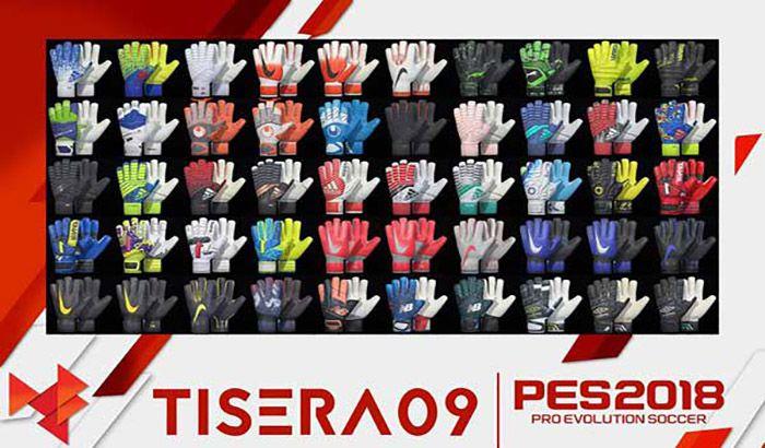 پک دستکش دروازبان V5 برای PES 2018 توسط Tisera09 + مینی آپدیت