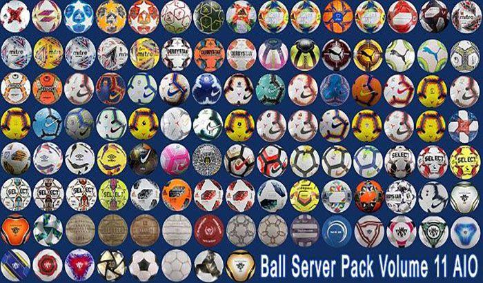 دانلود Ball-Server Pack V.11 برای PES 2019 ( سرور توپ PES 2019 )