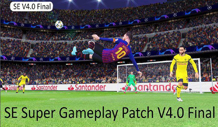 سوپر گیم پلی پچ V4 برای PES 2017 ( شبیه PES 2019 )