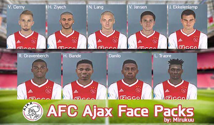 دانلود فیس پک تیم آژاکس Ajax برای PES 2017 – فصل 2019