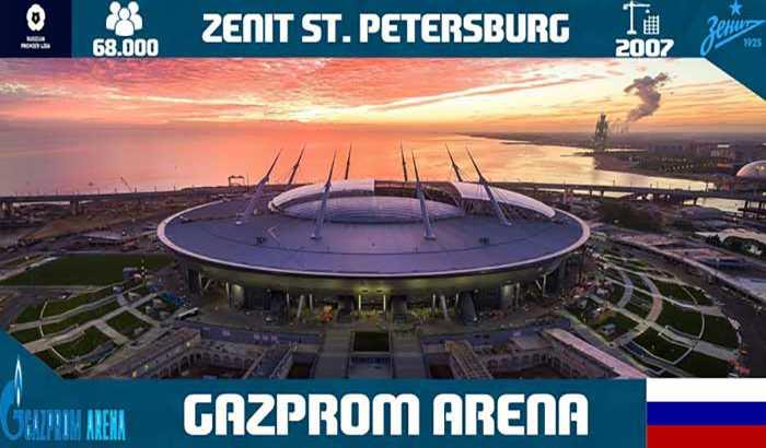 دانلود استادیوم Gazprom Arena زنیت برای PES 2017