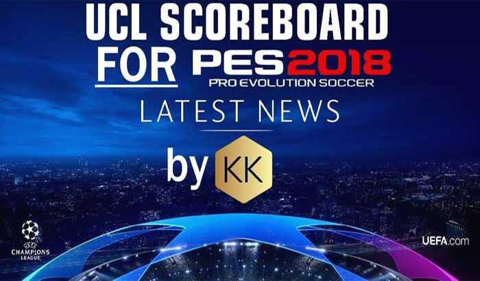 دانلود اسکوربورد لیگ قهرمانان اروپا 2019 برای PES 2018