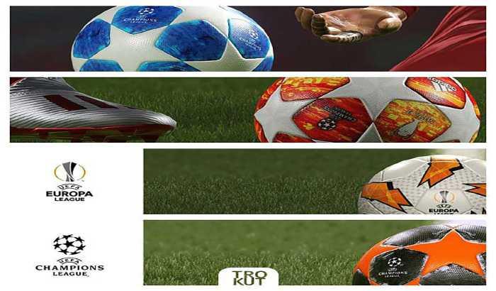 دانلود پک توپ UEFA CL و UEFA EL فصل 2019 برای PES 2019
