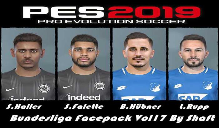 دانلود فیس پک Bundesliga Vol 17 برای PES 2019 توسط Shaft