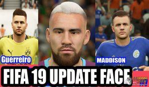 دانلود پک فیس و تتو V7 برای FIFA 19 توسط  IYASZAEN + فایل Squad