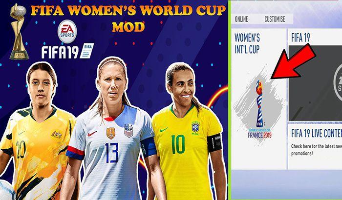 دانلود مود گرافیک جام جهانی بانوان برای FIFA 19 توسط BETA 10