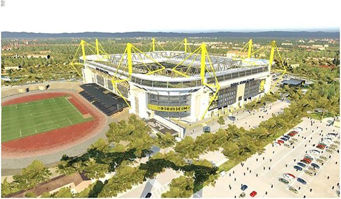 دانلود نمای بیرونی استادیوم ایدونا پارک و امارات برای PES 2019