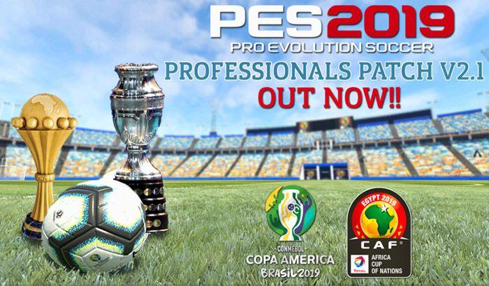 دانلود پچ Professional V2.1 برای PES 2019 ( کوپا آمریکا و ملت های آفریقا 2019 )