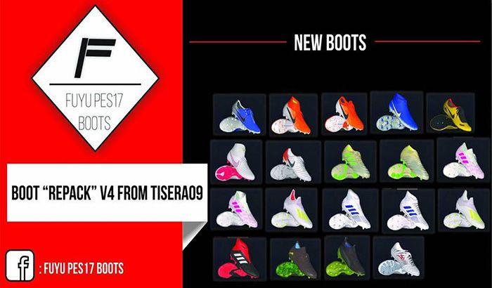 دانلود پک کفش Boot Repack AIO ALMOST برای PES 2017