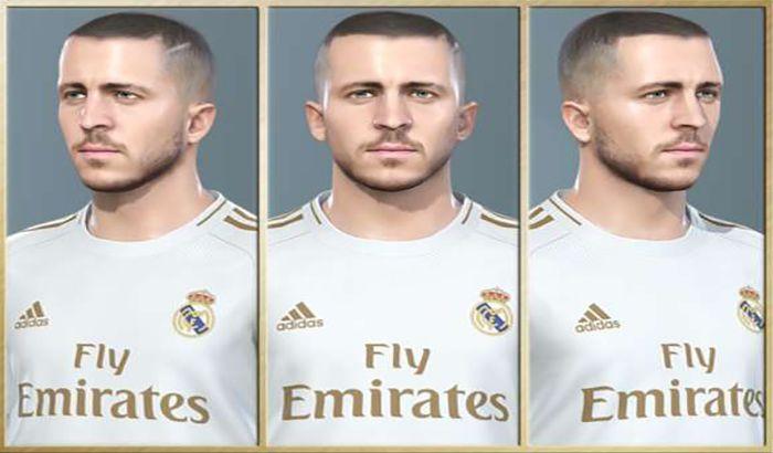 دانلود فیس هازارد Eden Hazard برای PES 2019 (تیم رئال مادرید)