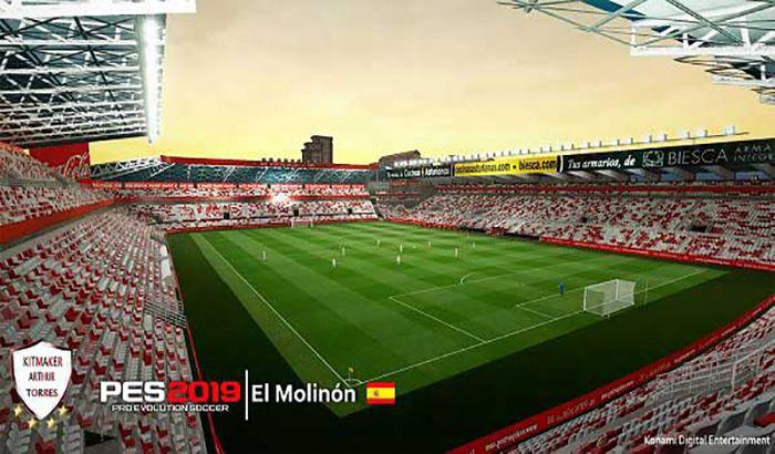 دانلود استادیوم El Molinon برای PES 2019 توسط lohan258