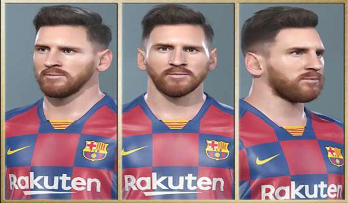 دانلود فیس مسی Lionel Messi برای PES 2019 توسط Robert Facemaker