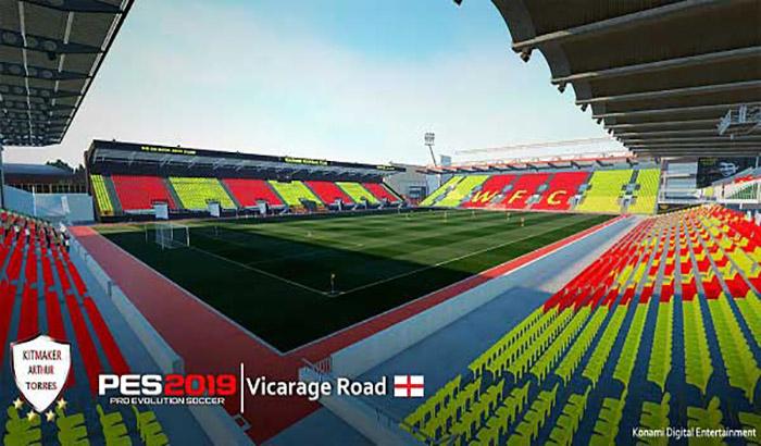 دانلود استادیوم Vicarage Road برای PES 2019 توسط lohan258