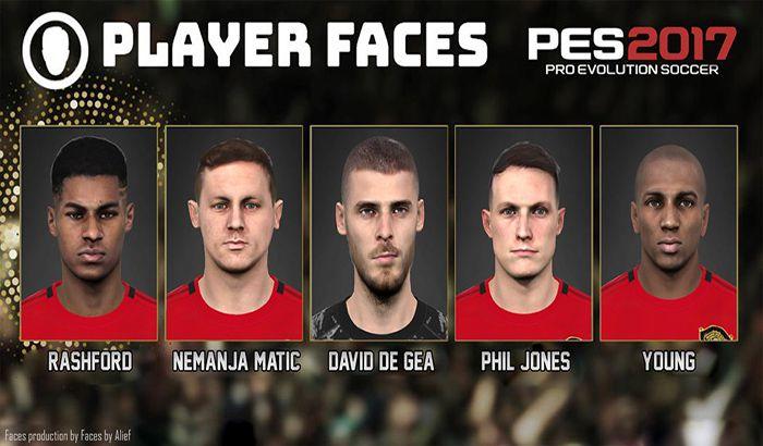 دانلود فیس پک Manchester United 2019 برای PES 2017