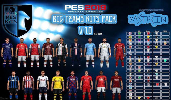 دانلود کیت پک Big Teams Kits Pack V 1.0 برای PES 2019