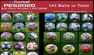 دانلود Ball Server Pack V3 برای PES 2020 توسط Hawke