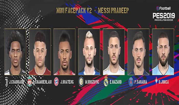دانلود مینی فیس پک V2 برای PES 2019 توسط Messi pradeep