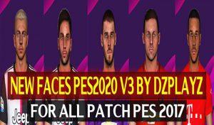 فیس پک جدید PES 2020 V3 برای PES 2017 توسط DZPLAYZ