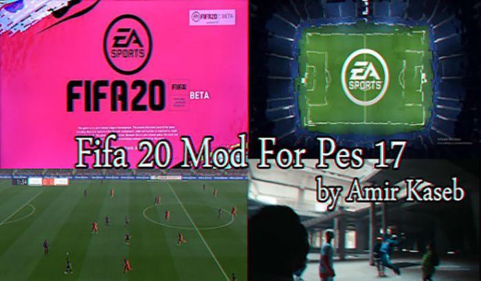 دانلود مود گرافیکی FIFA 20 برای PES 2017 توسط Amir Kaseb