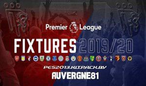 دانلود کیت پک لیگ انگلیس 2019/2020 برای PES 2013 توسط Auvergne81