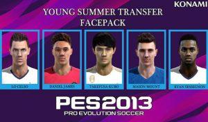 فیس پک بازیکنان جوان 2020 برای PES 2013